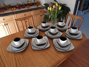 """1 16 pc. setting of corelle""""Hearthstone"""" dishes."""