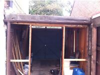 **FREE WOOD & FELT FROM GARAGE ROOF/STRUCTURE**