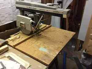 """Commercial Grade 10"""" Radial Arm Saw and Stand"""