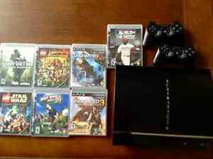PS3 80 GB backwards compatible console Kitchener / Waterloo Kitchener Area image 1
