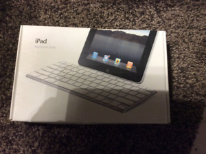 Apple iPad (1-3 Generation) Docking Keyboard w/ USB Charger,AUX