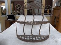 Rustic look wall mount steel shelf