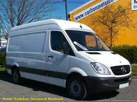 2011/11 Mercedes Sprinter 313Cdi [ Mobile Workshop+Invertor ] Mwb High Roof Van