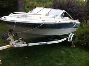 Ezy loader Boat trailer for Sale comes with 17.5 ft Larson Kawartha Lakes Peterborough Area image 1