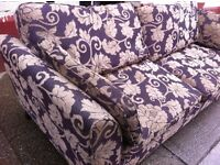 Purpley 7ft Sofa / free Glasgow delivery