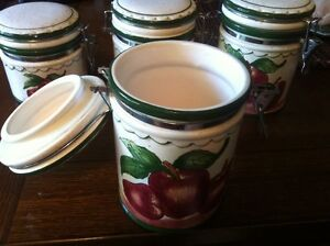 Country Apple Cannisters
