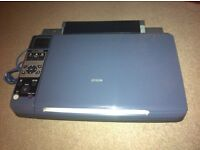 Epson printer fully working great condition, with over £15 worth of spare ink cartridges BARGAIN!!