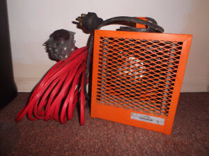 Construction heater & extension cord - good condition