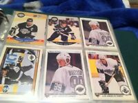 Hockey cards and mixed sports in box