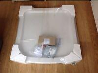 Shower Tray (White) 'Roklite' By Jacuzzi 800 x 800 Brand New