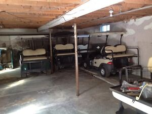 Golf cart winter storage