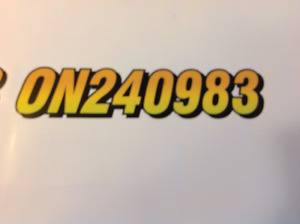 ATVs  or Sea Doo  Numbers and Lettering