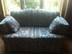 Chesterfield and loveseat