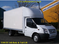 2013/ 63 Ford Transit T350 EF Luton Box Van T/ Lift 14ft Body DRW