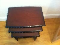 Coffee table/ nest of three tables & tv cabnet