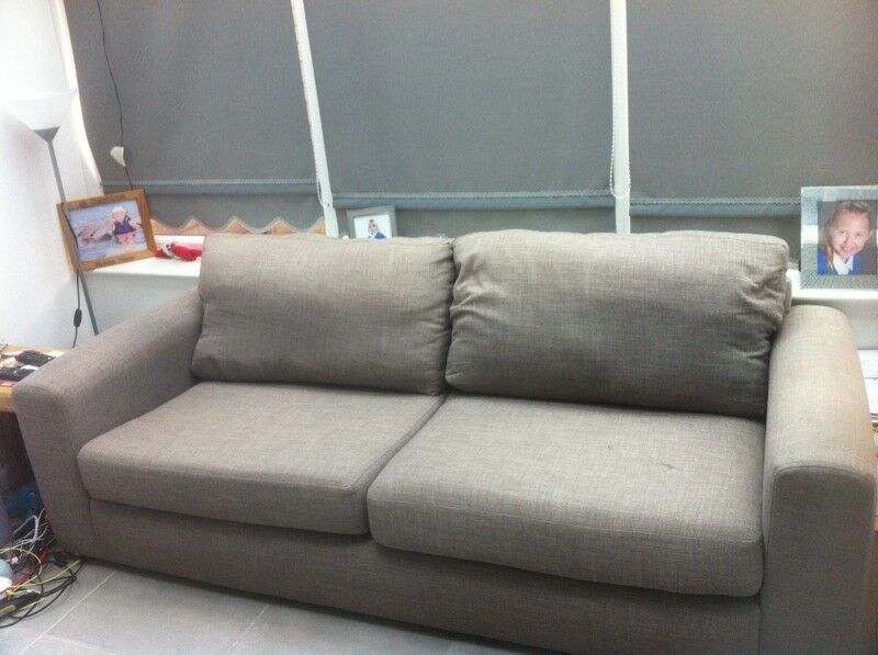 Two seater sofa grey due to time waster this sofa is now back for sale at a reduced price £55
