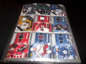HUGE LOT OF GAME USED JERSEY CARD HOCKEY BASEBALL RELICS $$$
