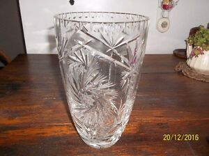NEW PRICE-Antique-LEAD CRYSTAL ETCHED VASE Kitchener / Waterloo Kitchener Area image 2