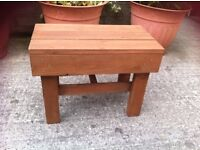 Wooden table small handmade