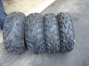 4 New Atv  tires with rims for sale