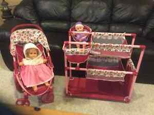 doll stroller and bed Cambridge Kitchener Area image 1