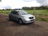24/7 Trade sales NI Trade Prices for the public 2002 Toyota Corolla 1.6 VVT automatic low miles