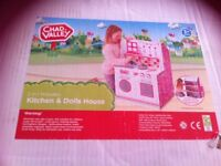 Kids wooden 2 in 1 kitchen and dolls house new