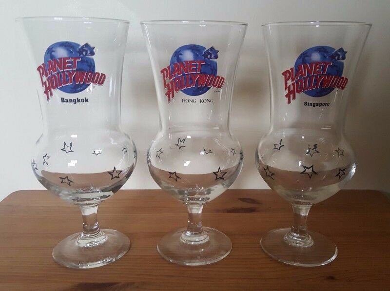 3 pieces Planet Hollywood Glasses