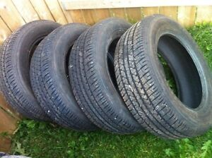 Set of four firestone 225 60r17 m + s tires.  Great condition.