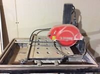Wet tile saw no pump 20$