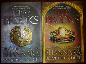 TERRY BROOKS The dark legacy of Shanara 2  book set both 1st ed.