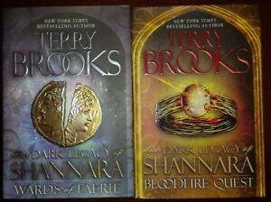 TERRY BROOKS The dark legacy of Shanara 2  book set both 1st ed.