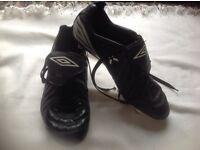 Umbro men's football boots black size: 9.5 used £4
