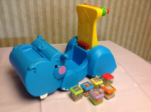 Fisher Price Goggle and Go Hippo with peek-a-boo blocks $15 Windsor Region Ontario image 2