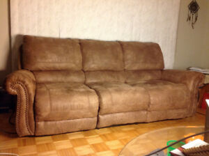 Reclining couch & loveseat