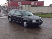 24/7 Trade sales NI Trade Prices for the public 2000 Volkswagen Golf 1.4 3 door Black motd
