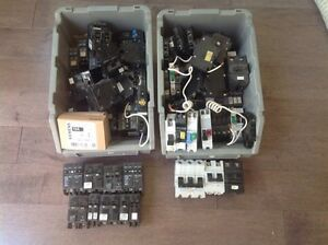 Assorted electrical breakers