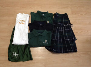 Holy trinity lot of 7 asst clothing, polo, skirt... Size m, lg,