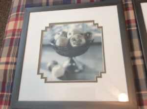 Beautiful Lijue Collection Prints 2 Apples & Pears framed/matted