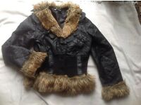 Tesga ladies jacket with fur size: M/L used £4