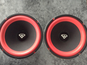 Two 10 inch Cerwin Vega woofers with new surrounds