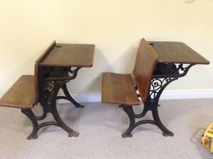 Antique school desk from southern New Brunswick