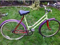 "Retro Raleigh town bike 20"" frame"