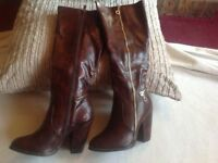 Brand new Lambada ladies long heels boots brown size: 6/39 & 3/36 new in box £10
