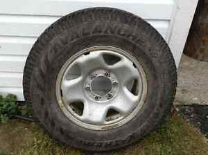 """4 snow tires on 16"""" steel Toyota rims to fit Tacoma St. John's Newfoundland image 2"""
