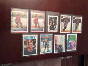 9cartes de hockey 1981à89:Wayne Gretzky(5)+Brett Hull rc Nr.Mint