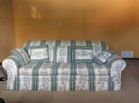 Sofabed and loveseat