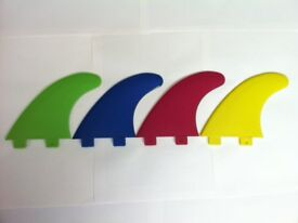 Surfboard Fins FCS Compatible Green, Blue, yellow or red G5 Set of 3 Great Quality Surf Fin Euro