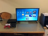 PS3 Slim with 11 games and 4 controllers
