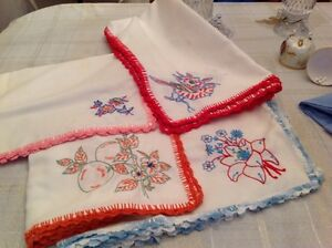 HANDMADE TABLECLOTHS CROCHETED AROUND EDGES